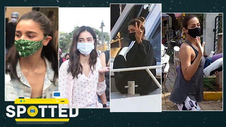 Spotted! Deepika Padukone, Ananya Panday, Malaika Arora, Alia Bhatt Papped in Mumbai- Video