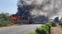 जयपुर-दिल्ली बाईपास पर हाईटेंशन लाइन की चपेट में आई बस, 3 लोगों की दर्दनाक मौत