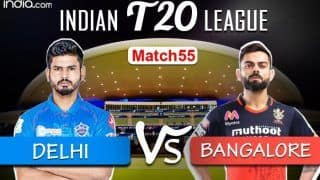 LIVE IPL 2020 DC vs RCB Scorecard, IPL Today's Match Live Cricket Score And Updates Online Match 55: Top-Two Finish at Stake as Bangalore And Delhi Aim to Arrest Slide