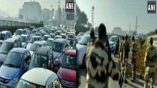 Delhi-Gurugram Border: किसान मार्च और चेकिंग की वजह से दिल्ली-गुरुग्राम बॉर्डर पर लगा लंबा जाम, इन रास्तों में जानें से बचें