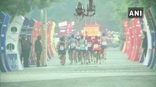Ethiopian Amedework Walelegn Wins Airtel Delhi Half Marathon 2020 in Course Record Time