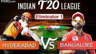 LIVE IPL 2020 Playoffs Eliminator 1 SRH vs RCB Live Cricket Score And Updates Abu Dhabi: Will in-Form Hyderabad End Bangalore's Dream?