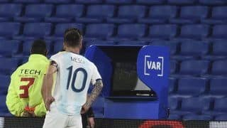 Lionel Messi's Goal Disallowed by VAR During Argentina-Paraguay World Cup 2022 Qualifier Creates Controversy