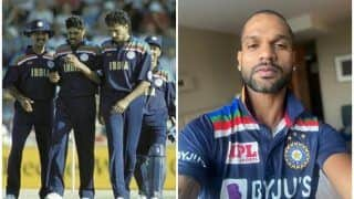 India vs Australia: Shikhar Dhawan Flaunts New Retro Jersey, Twitterverse Reacts