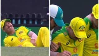 David Warner Injury Update: Australian Opener Leaves Sydney (SCG) Holding His Groin After Awkward Tumble During 2nd ODI Against India