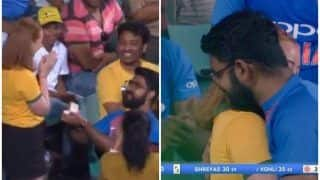 2nd ODI: Indian Fan Proposing Australian Lady in Sydney Cricket Ground (SCG) is Winning The Internet | WATCH
