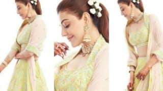 Kajal Aggarwal Looks Magnificent in Anita Dongre's Exquisite Lehenga For Gaur Pooja Ceremony