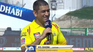 Chennai super kings fans happy as ms dhoni promises to return in csk jersey next year 4193842