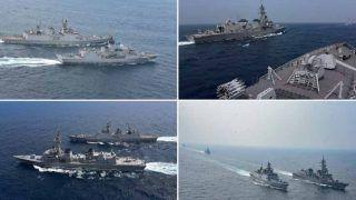 बंगाल की खाड़ी में भारत, यूएस, जापान ऑस्ट्रेलिया की Navy का अभ्यास शुरू, चीन के बदले सुर