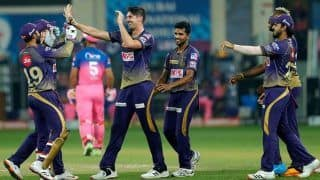 KKR vs RR 2020, IPL Today Match Report: Eoin Morgan, Pat Cummins Star as Kolkata Knight Riders Beat Rajasthan Royals to Keep Playoff Hopes Alive