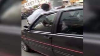 Caught on Camera: Pune Man Drags Traffic Cop on Car Bonnet to Evade Fine, Video Goes Viral