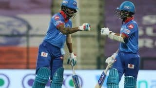 DC vs RCB 2020, IPL Today Match Report: Ajinkya Rahane, Shikhar Dhawan, Anrich Nortje Seal Second Spot For Delhi Capitals; Royal Challengers Bangalore Also Qualify For Playoffs