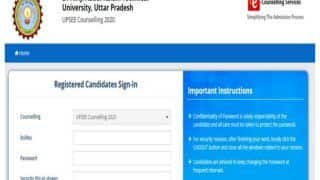 UPSEE Counselling 2020: Revised Schedule For Round 2 Released At upsee.nic.in, Check Details Here