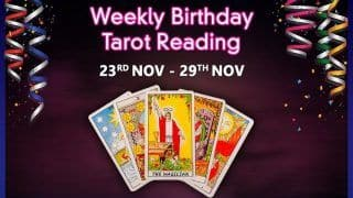 Watch Tarot Prediction by Munisha Khatwani: Know What's New Your Birthday Week is Bringing Into Your Life| November 23-November 29