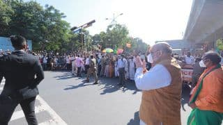 Party Flags, Loud Cheers as Amit Shah Walks on Chennai Street Amid Strained Ties With TN Govt
