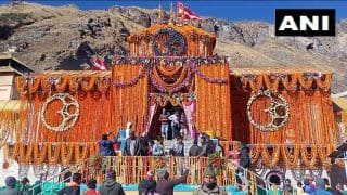 On Diwali, Badrinath Temple Decorated With 10 Quintals of Marigold Flowers