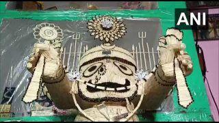 Odisha Artist Makes Lord Jagannath's Idol with 3,635 Matchsticks