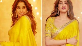 Janhvi Kapoor Dazzles In A Classic Yellow Saree By Manish Malhotra, See PICS