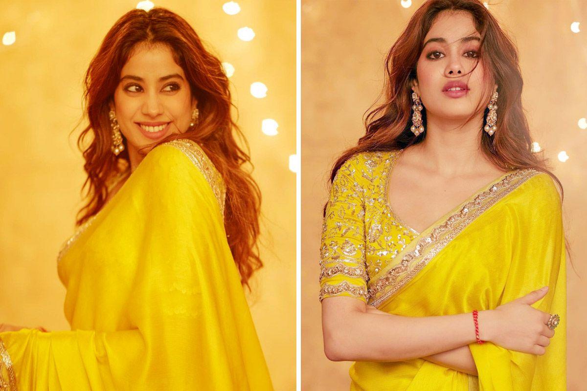Janhvi Kapoor Dazzles In A Classic Yellow Saree By Manish Malhotra, See PICS