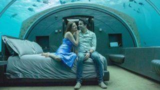 Kajal Aggarwal and Gautam Kitchlu New Honeymoon Pics-पानी के अंदर बने बेडरूम में रोमांस करते दिखे काजल-गौतम