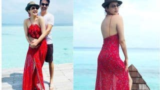 Kajal Aggarwal-Gautam Kitchlu's Honeymoon Pics Out: Couple Poses in The Stunning Maldives