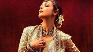 मलाइका अरोड़ा ने पहनी गोल्डन चमकीली साड़ी, ब्लाउज़ की जगह जैकेट पहन लगाया हॉटनेस का तड़का