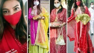 Karwa Chauth 2020: Celebrations with Mask On For Kajal Aggarwal, Shilpa Shetty, Sonali Bendre, and Maheep Kapoor