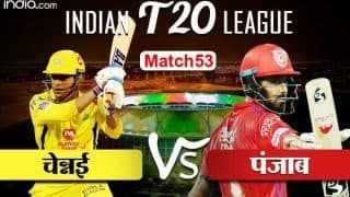 Live IPL 2020 Score Chennai vs Punjab: महेंद्र सिंह धोनी ने टॉस जीतकर किंग्स इलेवन पंजाब को बल्लेबाजी के लिए किया आमंत्रित