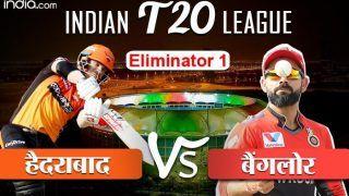 Hyderabad vs Bangalore, Eliminator Highlights: हैदराबाद ने कोहली एंड कंपनी को आईपीएल से बाहर कर क्वालीफायर में बनाई जगह