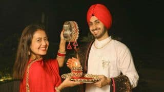 Neha Kakkar Shares Her First Karwa Chauth Celebration Pictures, Looks Radiant in Red With Rohanpreet Singh