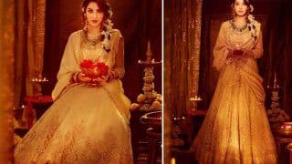 Nora Fatehi Is Magnificient In Tarun Tahiliani's Lehenga Which Costs Rs 1,99,900 And You Can't Take Your Eyes Off Her