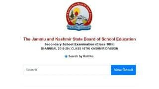 JKBOSE 10th Kashmir Division Result 2020 Declared: जम्मू कश्मीर बोर्ड ने जारी किया 10वीं का रिजल्ट, ये रहा चेक करने का Direct Link