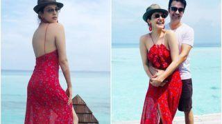 हनीमून के लिए मालदीव पहुंचीं काजल अग्रवाल, लाल ड्रेस में परी लग रही हैं, देखिए