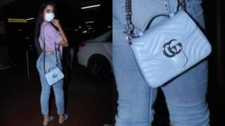 Nora Fatehi Carries Rs 1.5 Lakh Bag at The Airport, Slays in a Sexy Crop Top And Denims