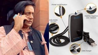 Did You Notice a Device Hanging Around Congress MP Shashi Tharoor's Neck? It is Your Wearable Air Purifier 24/7