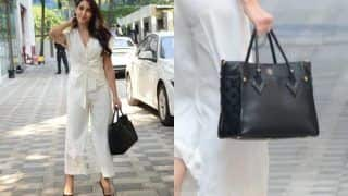 Nora Fatehi Rocks Boss Lady Look in All-White Ensemble, Carries Rs 3 Lakh Bag to Enhance Her Rich Appearance, See PICS Here
