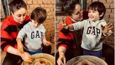 जब करीना कपूर ने बेटे तैमूर को सिखाया मिट्टी के बर्तन बनाना, लाखों लोगों ने देखा ये वीडियो