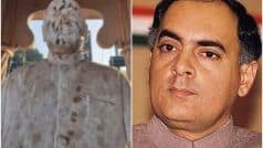 पीएम मोदी के संसदीय क्षेत्र वाराणसी में राजीव गांधी की प्रतिमा पर कालिख पोती, कांग्रेस कार्यकर्ताओं ने दूध से साफ की
