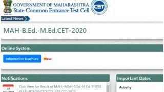 MAH M.Ed, B.Ed CET Result 2020 Declared: महाराष्ट्र CET Cell ने जारी किया M.Ed, B.Ed CET 2020 का रिजल्ट, इस लिंक से चेक करें Merit List