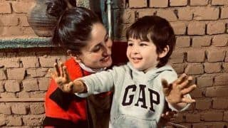 Kareena Kapoor Khan Tries Her Hands at Pottery With Taimur in Rs 2k Striped Sweater