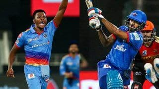 IPL 2020: Kagiso Rabada Reclaims Purple Cap, Shikhar Dhawan Eyes Orange Cap as Race Continues