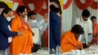 Watch: Ravi Kishan Falls Off Chair on Stage During Chhath Puja Function in Gorakhpur, Video Goes Viral