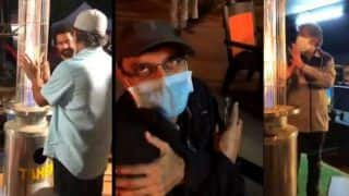 RRR Director SS Rajamouli And Actor Jr NTR Shiver in Cold Amid Night Shoot, Video Goes Viral