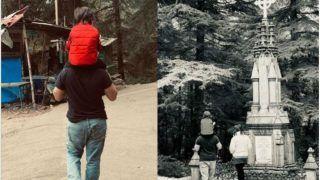 Taimur Ali Khan Enjoys Stroll on Daddy Saif Ali Khan's Shoulders at St. John Church, Dharamshala (PICS)
