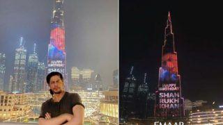 On Shah Rukh Khan's 55th Birthday, Burj Khalifa Adds Sparkle to His Celebration- Watch