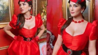 Sunny Leone Sets The Christmas Mood With Her Pictures in Cute Little Red Dress, Announces New Music Video
