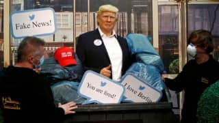 Ahead of US Elections, Berlin's Madame Tussauds Dumps Donald Trump's Wax Statue in Garbage Bin