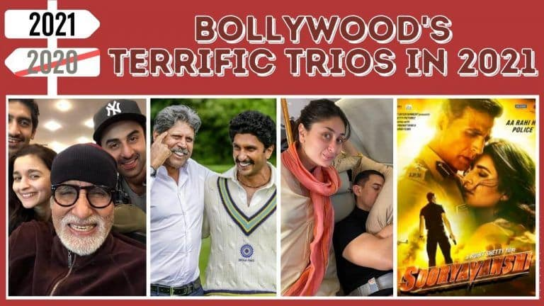 List of Bollywood Films to Release With Terrific Trios in 2021-2022