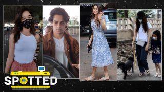 SPOTTED! Ananya Panday, Ishaan Khattar, Sidharth Malhotra, Kiara Advani, Sunny Leone Snapped in Mumbai!