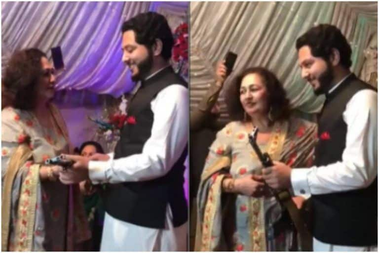 Pakistani Groom Receives AK-47 Rifle As Wedding Gift From Mother-in-Law, Video Goes Viral | Watch